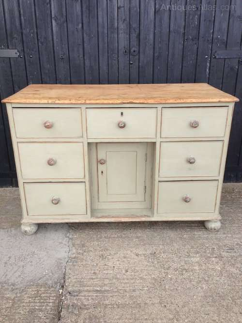 Victorian Painted Pine Dresser Base SOLD