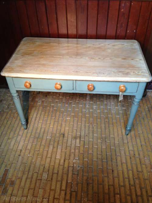 Victorian Painted Pine Scrubbed Table SOLD