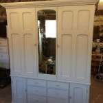 Mid Victorian Painted Pine House Keepers Cupboard SOLD