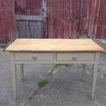 Mid Victorian Painted Pine Kitchen Table SOLD