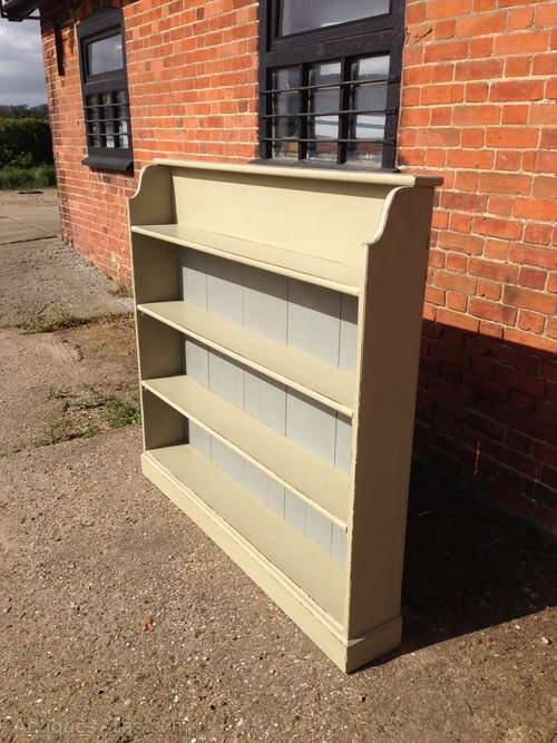Mid Victorian Painted Pine Open Bookcase SOLD