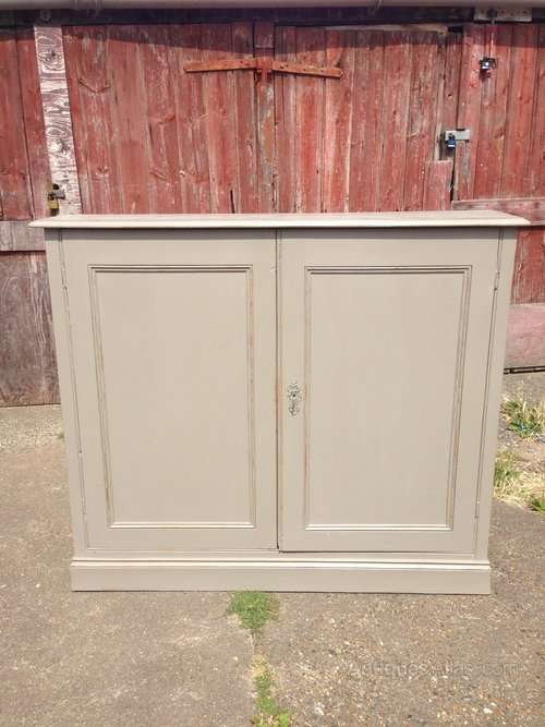 Mid Victorian Painted Pine Cupboard