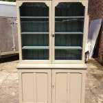 Mid Victorian Painted Pitch Pine Cupboard Bookcase SOLD