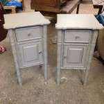 Painted Pine Bedside Tables Cupboards SOLD