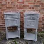 Pair Of Late 19th Century Painted Bedside Cabinets SOLD