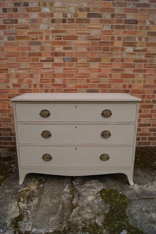 Regency Painted Mahogany 3 Drawer Chest SOLD