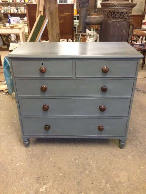 Regency Painted Mahogany 5 Drawer Chest SOLD