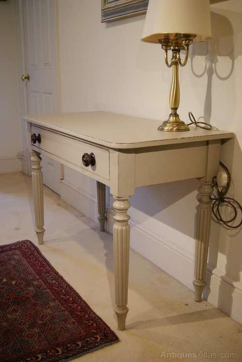 Victorian Painted Mahogany Writing Desk3