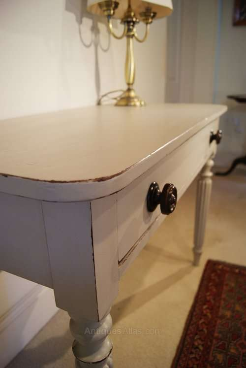 Victorian Painted Mahogany Writing Desk5