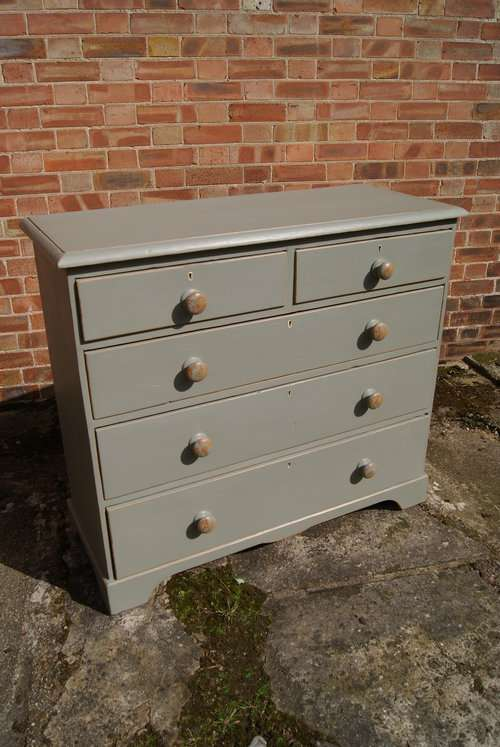 Victorian Painted Pine Chest Of Drawers SOLD- Ref:1020