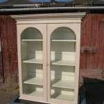 Victorian Painted Pine Hanging Glazed Cupboard SOLD