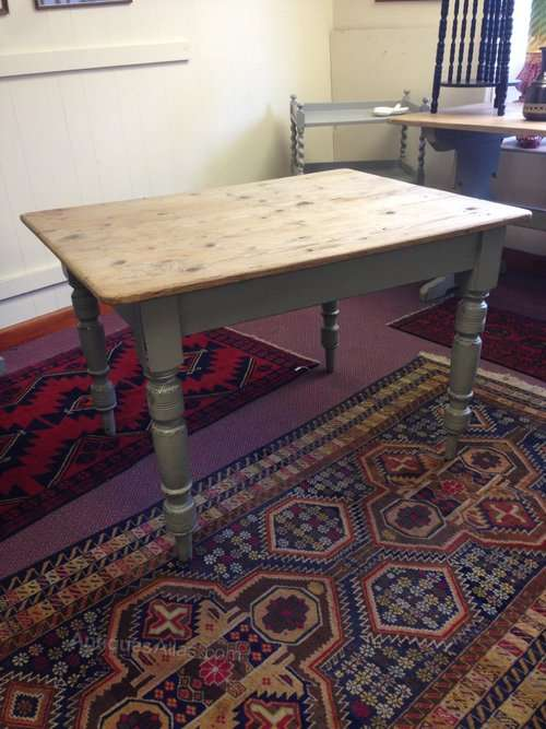 Victorian Painted Pine Scrubbed Top Table SOLD