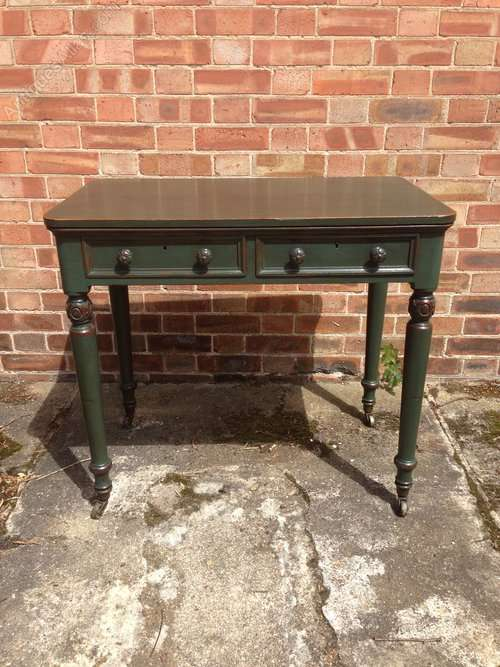 WIlliam IV Painted Oak Writing Desk Table SOLD