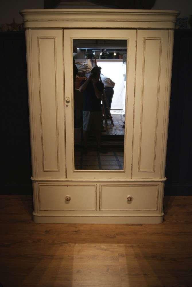 Victorian Painted Satin Birch Wardrobe SOLD- Ref:1040
