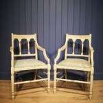 Pair Of Edwardian Painted Mahogany Armchairs SOLD- Ref:1038