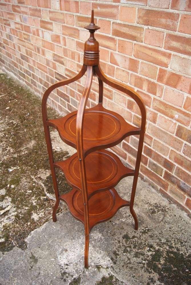 Edwardian Inlaid mahogany Cakestand2