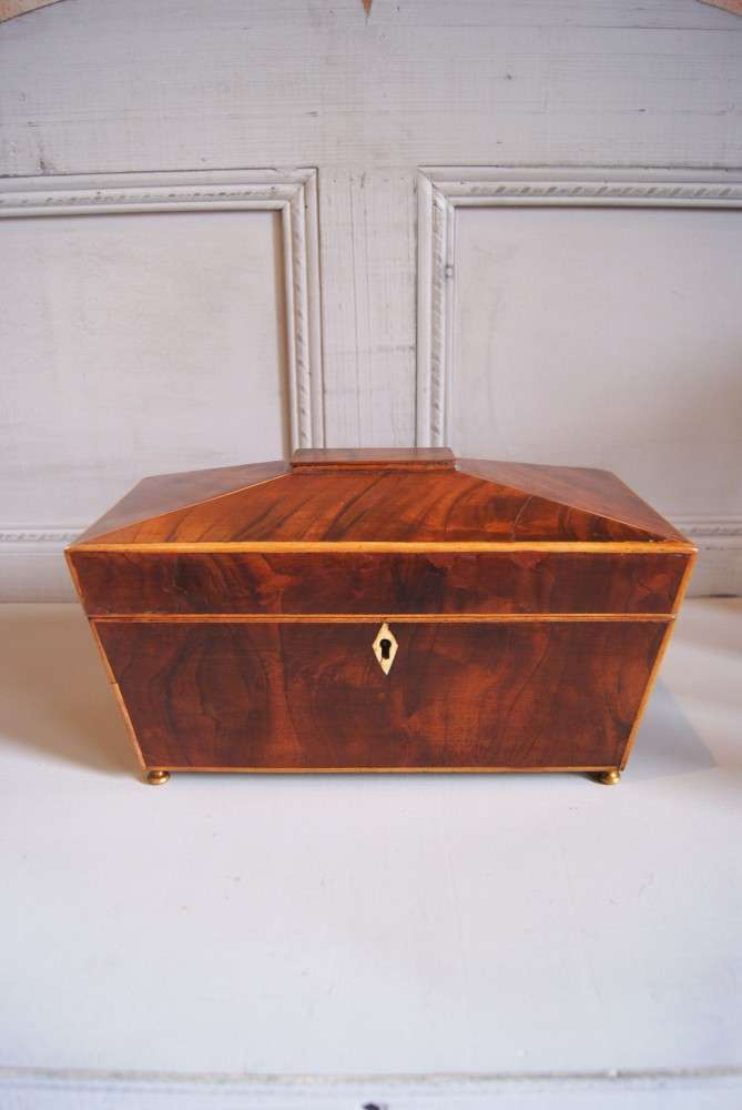 Early 19th Century Inlaid Mahogany Tea Caddy SOLD- Ref:1046