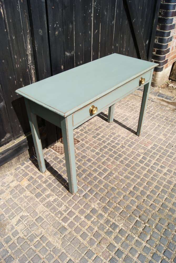 Victorian Painted Oak Side Table 1