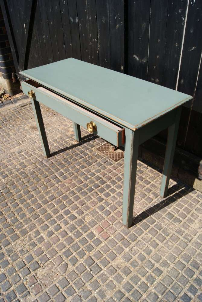 Victorian Painted Oak Side Table 2