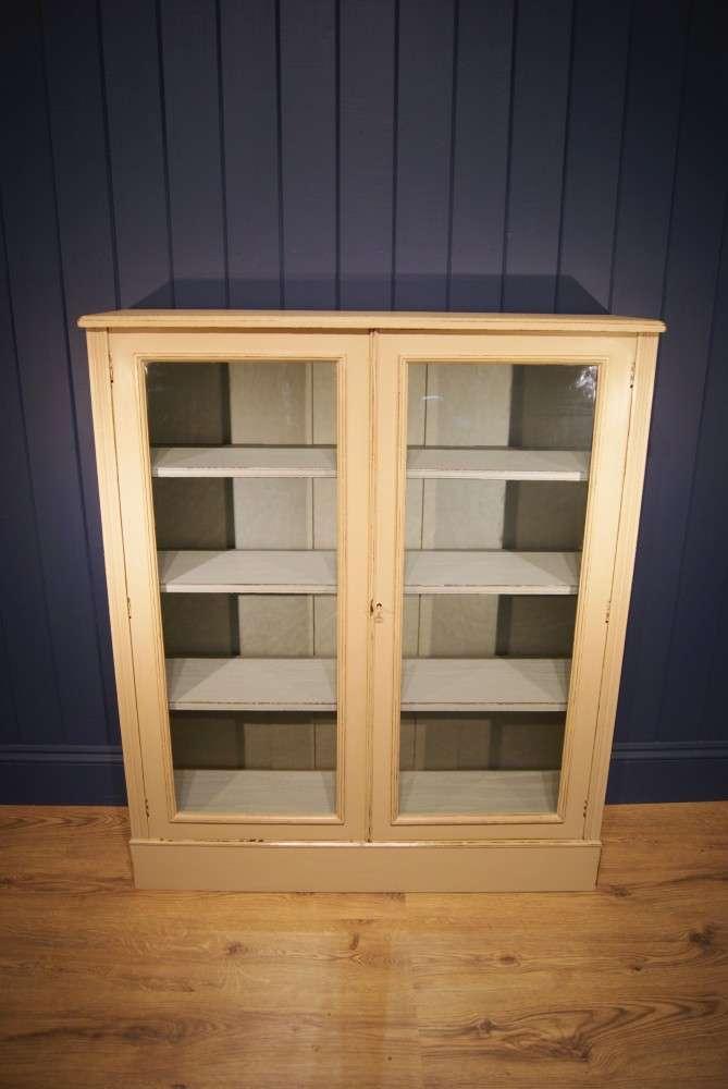Edwardian Painted Walnut Glazed Bookcase SOLD- Ref:1048
