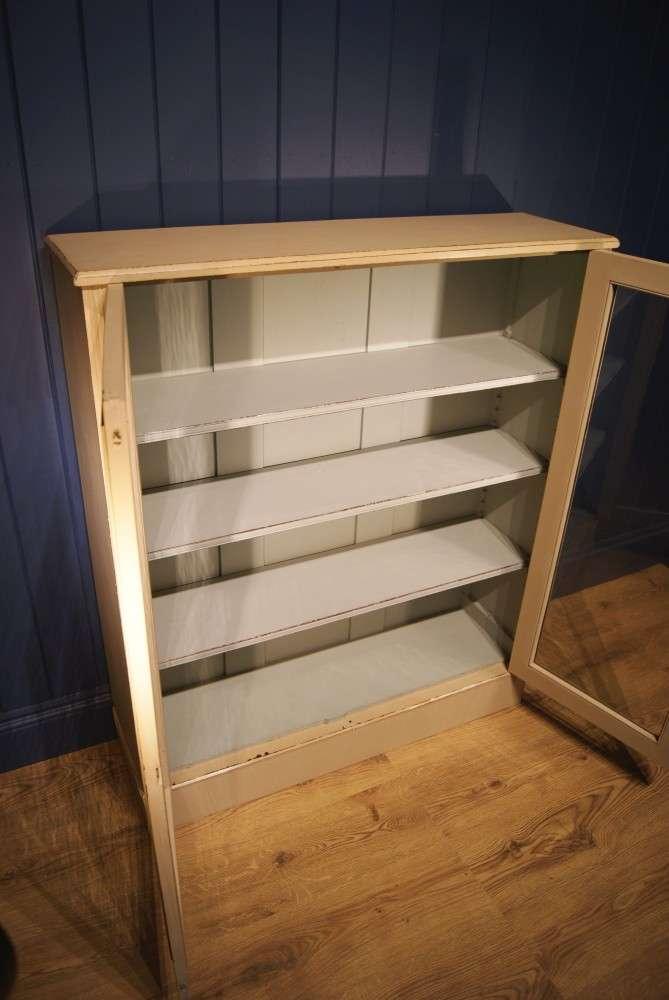 Edwardian Painted Walnut Glazed Bookcase3