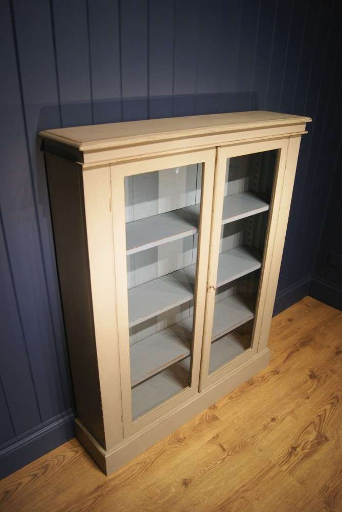 Late Victorian Painted Mahogany Bookcase1