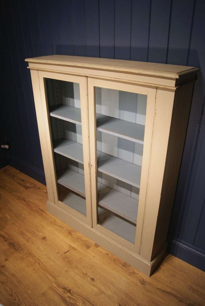 Late Victorian Painted Mahogany Bookcase2