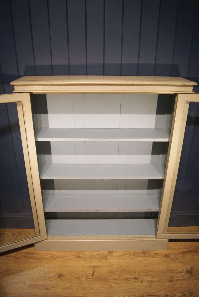 Late Victorian Painted Mahogany Bookcase4