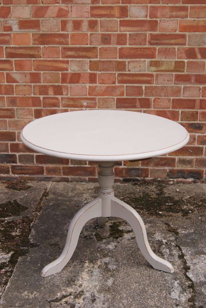 Painted Oak Coffee Table On Tripod Base SOLD- Ref:1045