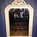 Victorian French Painted Gilt Mirror SOLD- Ref:1018