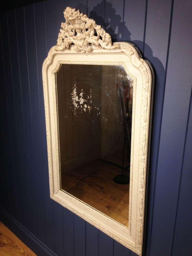 Victorian French Painted Gilt Mirror1