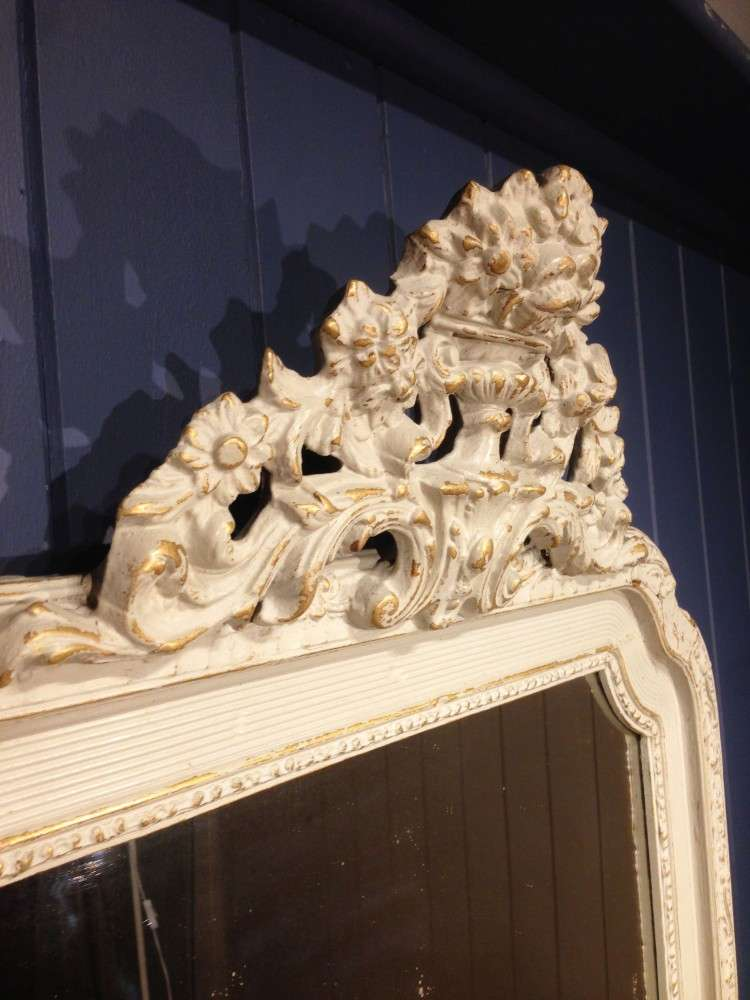 Victorian French Painted Gilt Mirror2