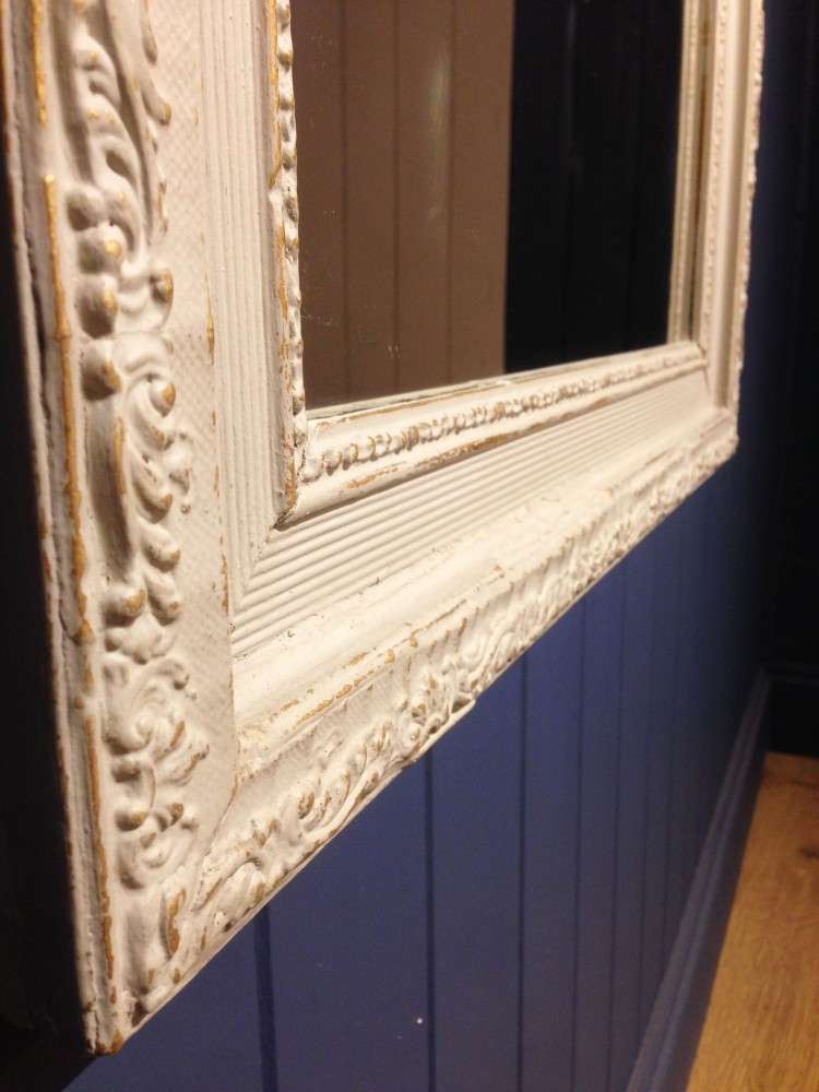 Victorian French Painted Gilt Mirror3