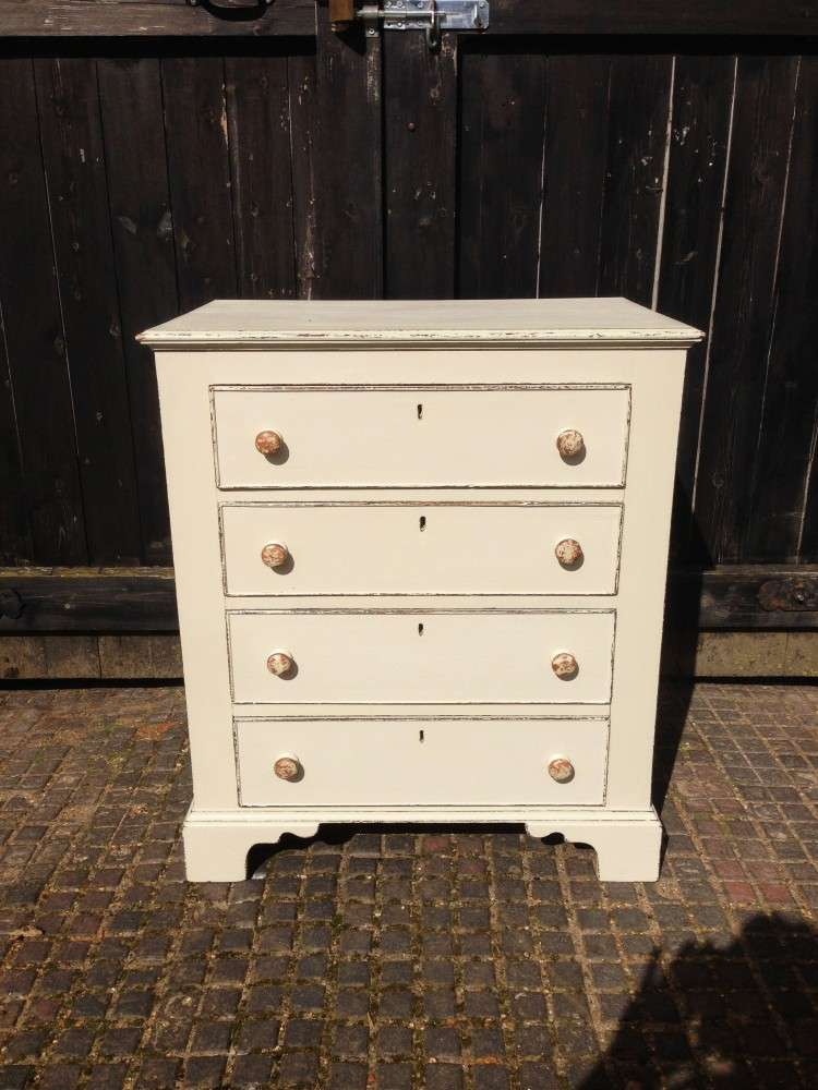 Edwardian Painted Oak 4 Drawer Chest SOLD- Ref:1060