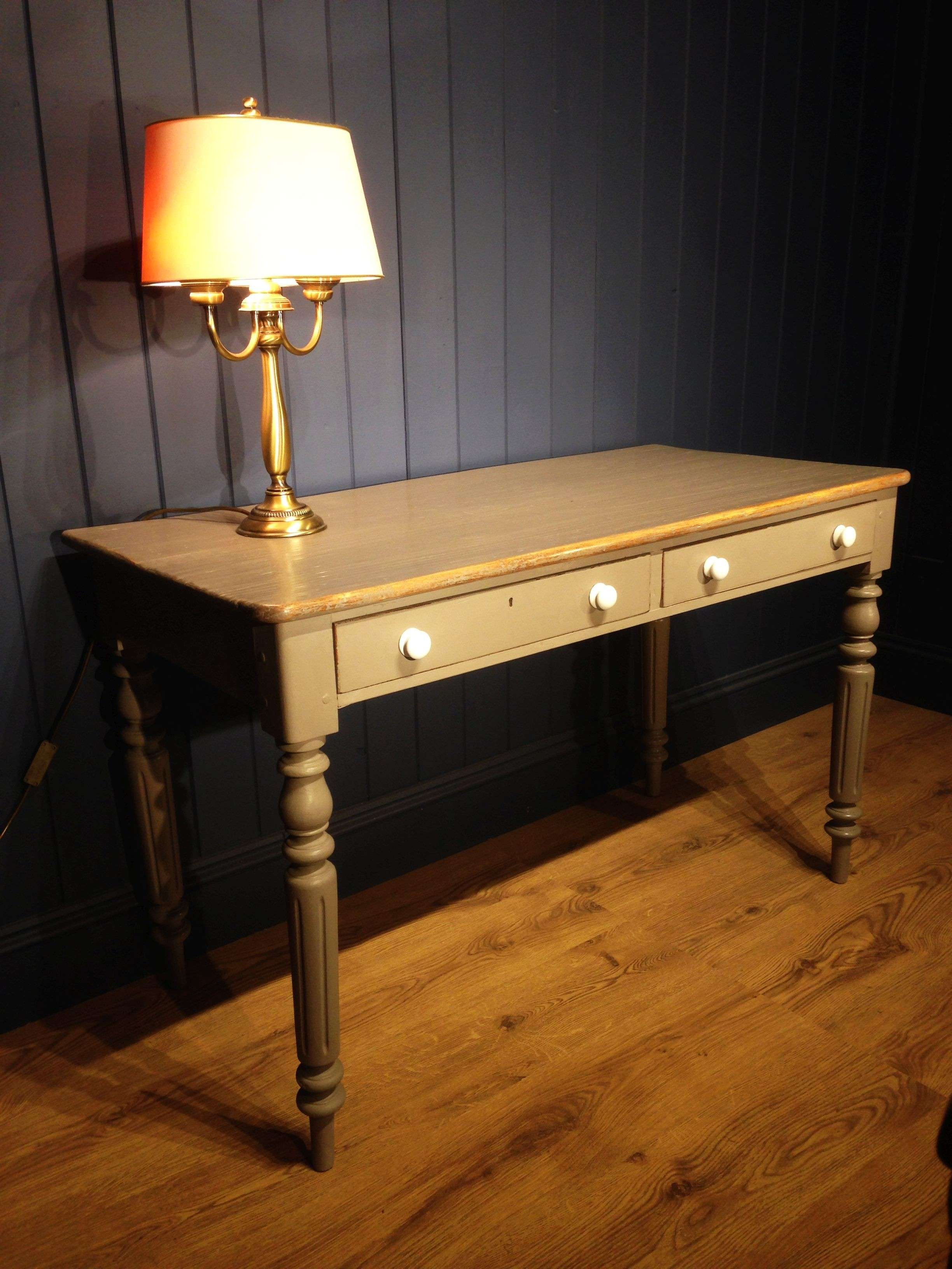 Mid Victorian Painted Dressing/Writing Table1