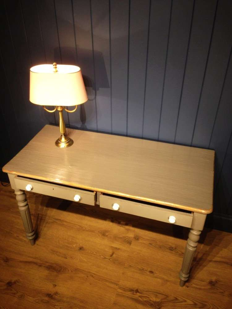 Mid Victorian Painted Dressing/Writing Table3