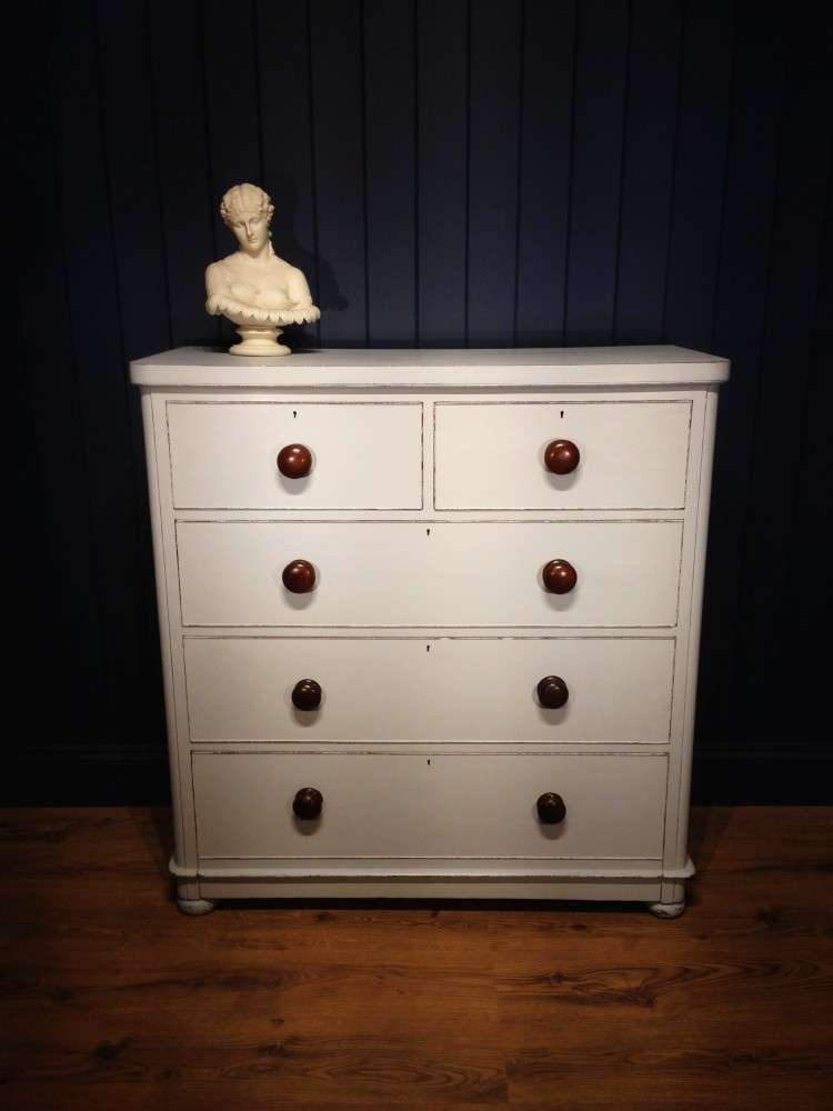 Mid Victorian Painted Mahogany Chest Of Drawers SOLD- Ref:1062