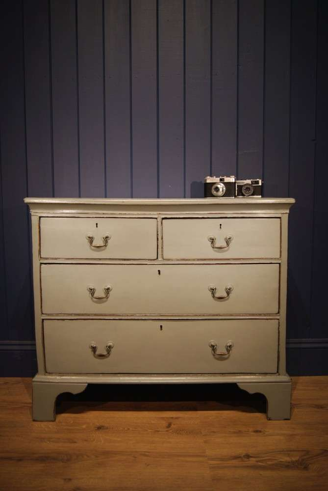 Georgian Painted Oak Chest Of Drawers