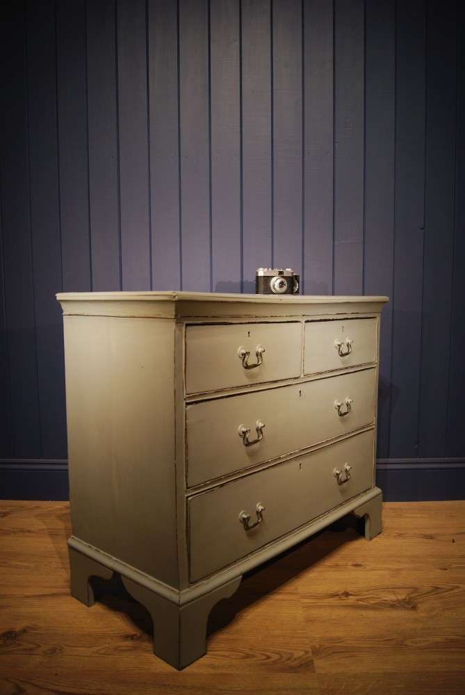 Georgian Painted Oak Chest Of Drawers1