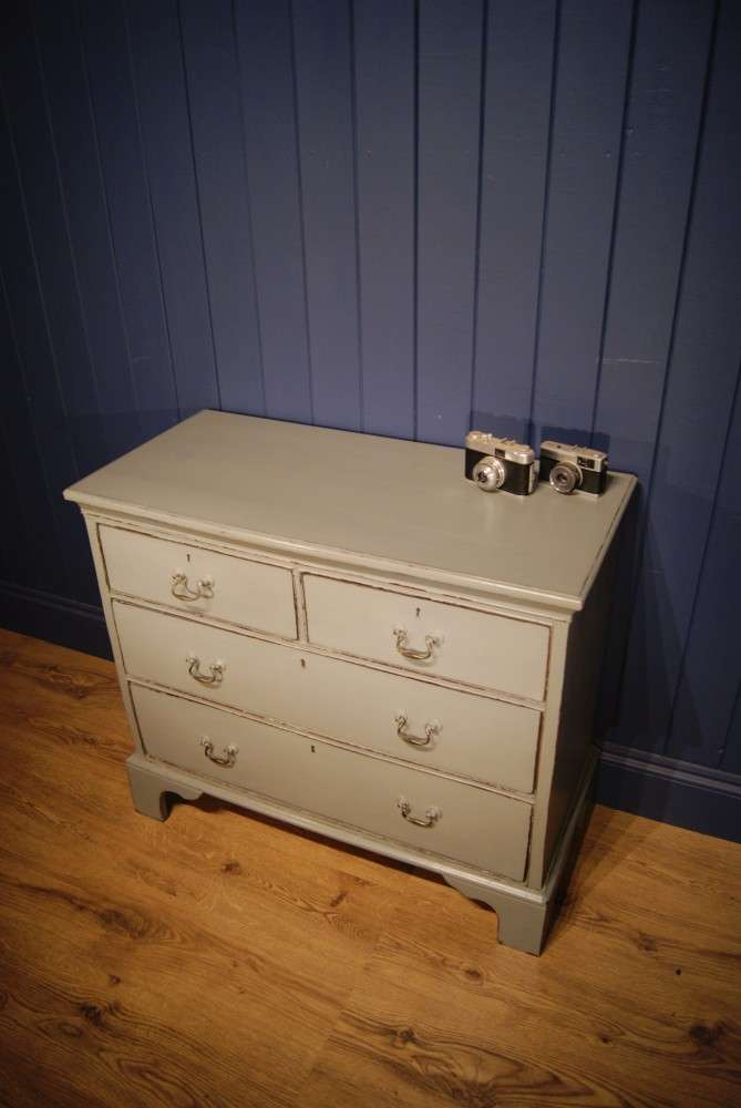 Georgian Painted Oak Chest Of Drawers3