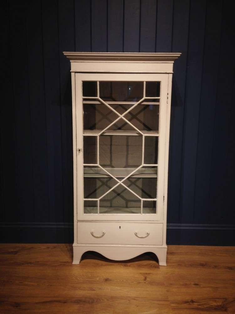 Edwardian Painted Mahogany Glazed Cabinet SOLD – Ref:1066