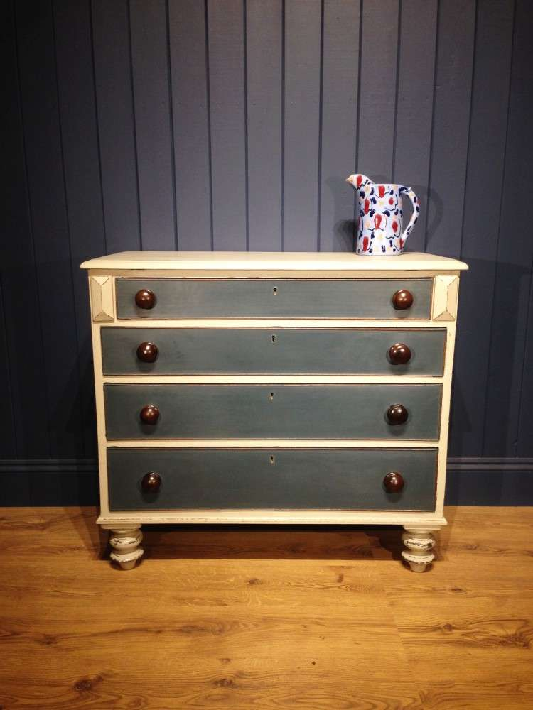 Early Victorian Painted Chest Of Drawers