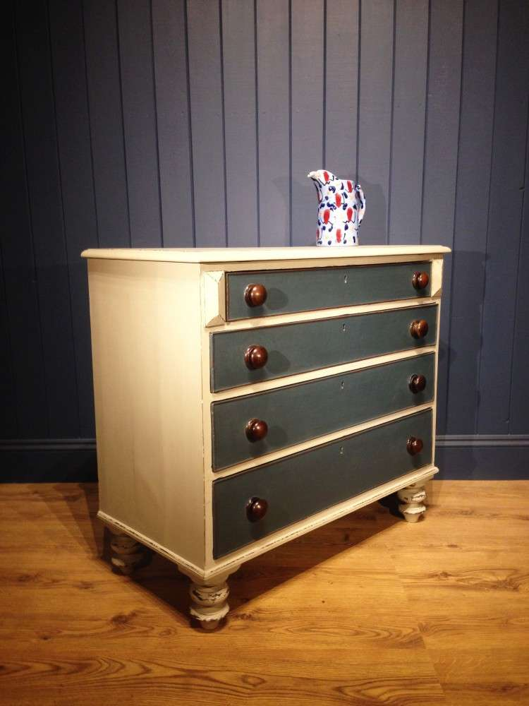 Early Victorian Painted Chest Of Drawers1