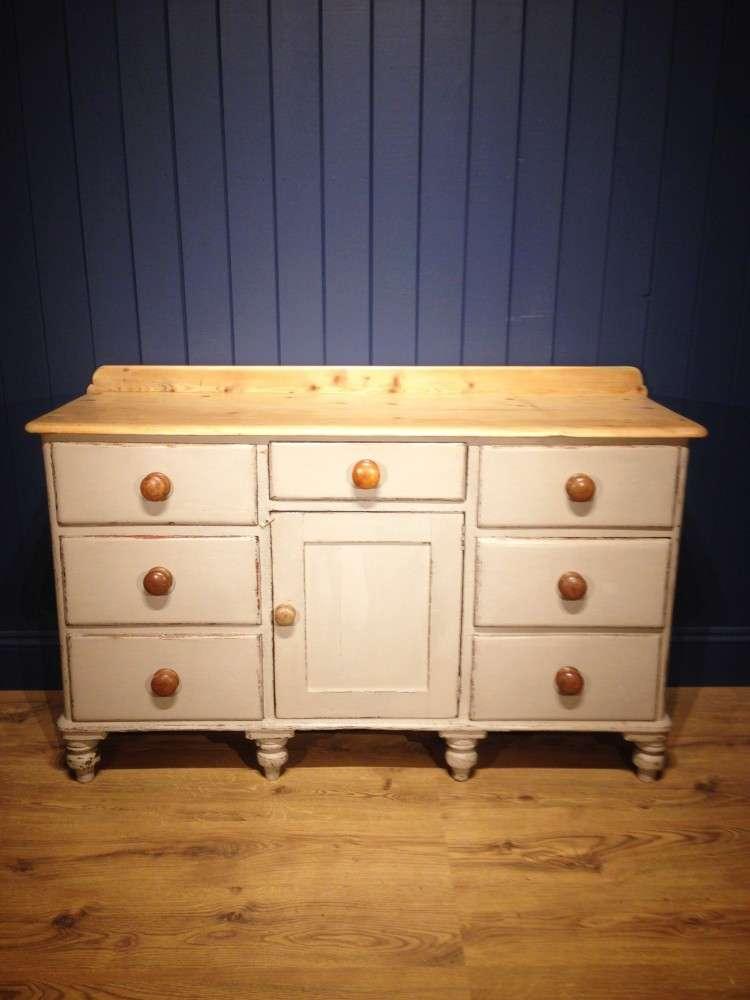 Victorian Painted Pine Kitchen Dresser Base SOLD- Ref:1021