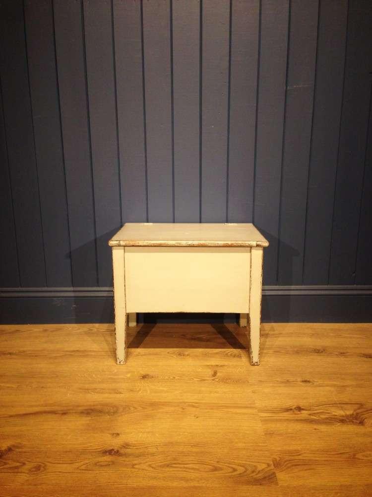 Victorian Painted Pine Box Stool