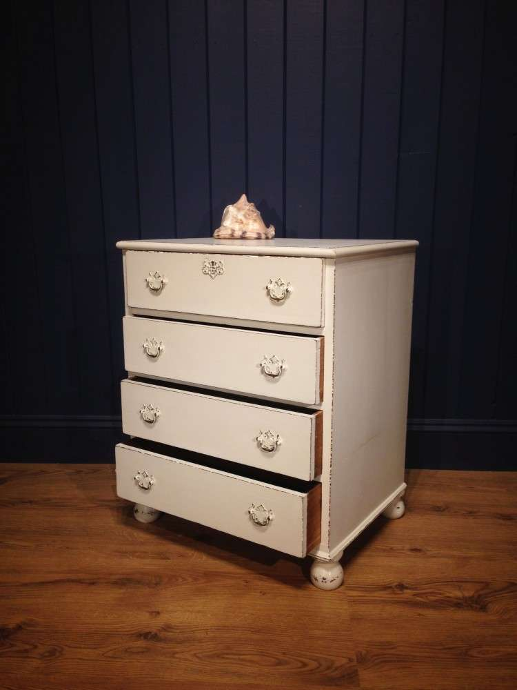 Mid Victorian Painted Mahogany Chest2