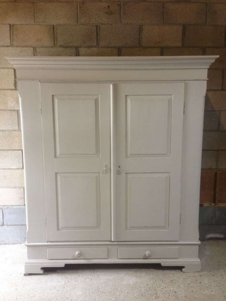 French Painted Break Down Pine Wardrobe SOLD- Ref:1074