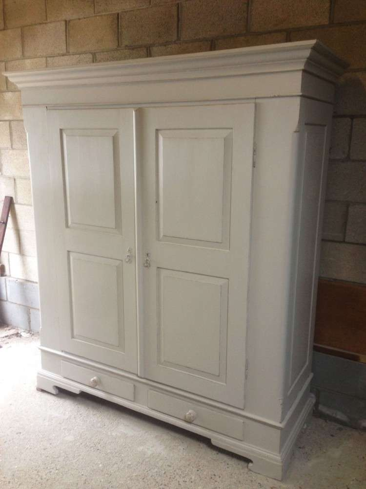 French Painted Pine Wardrobe1