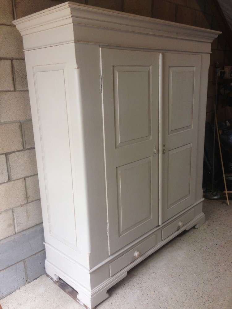 French Painted Pine Wardrobe2