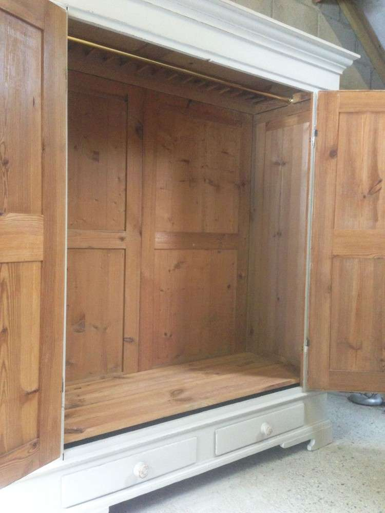 French Painted Pine Wardrobe3